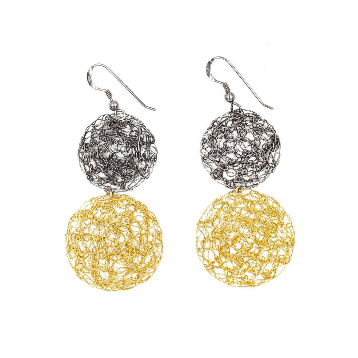 statement earrings in gold