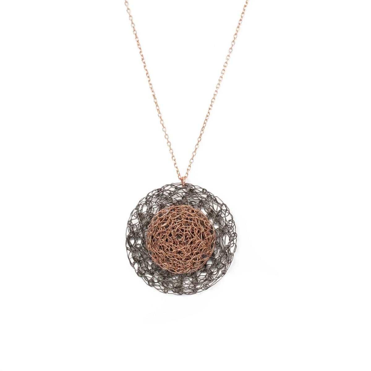 rose gold circle pendant necklace