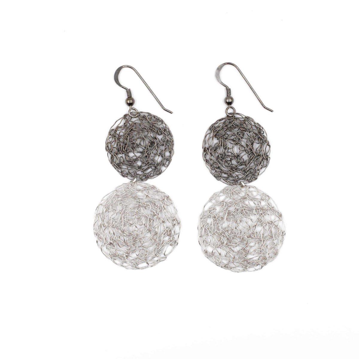 statement earrings in silver