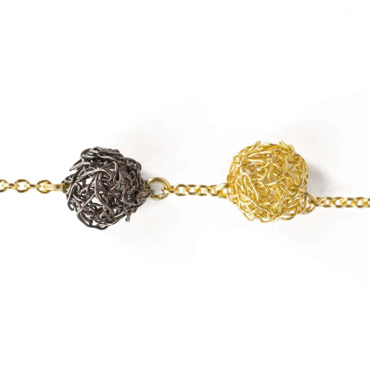 detail of handmade gold sphere