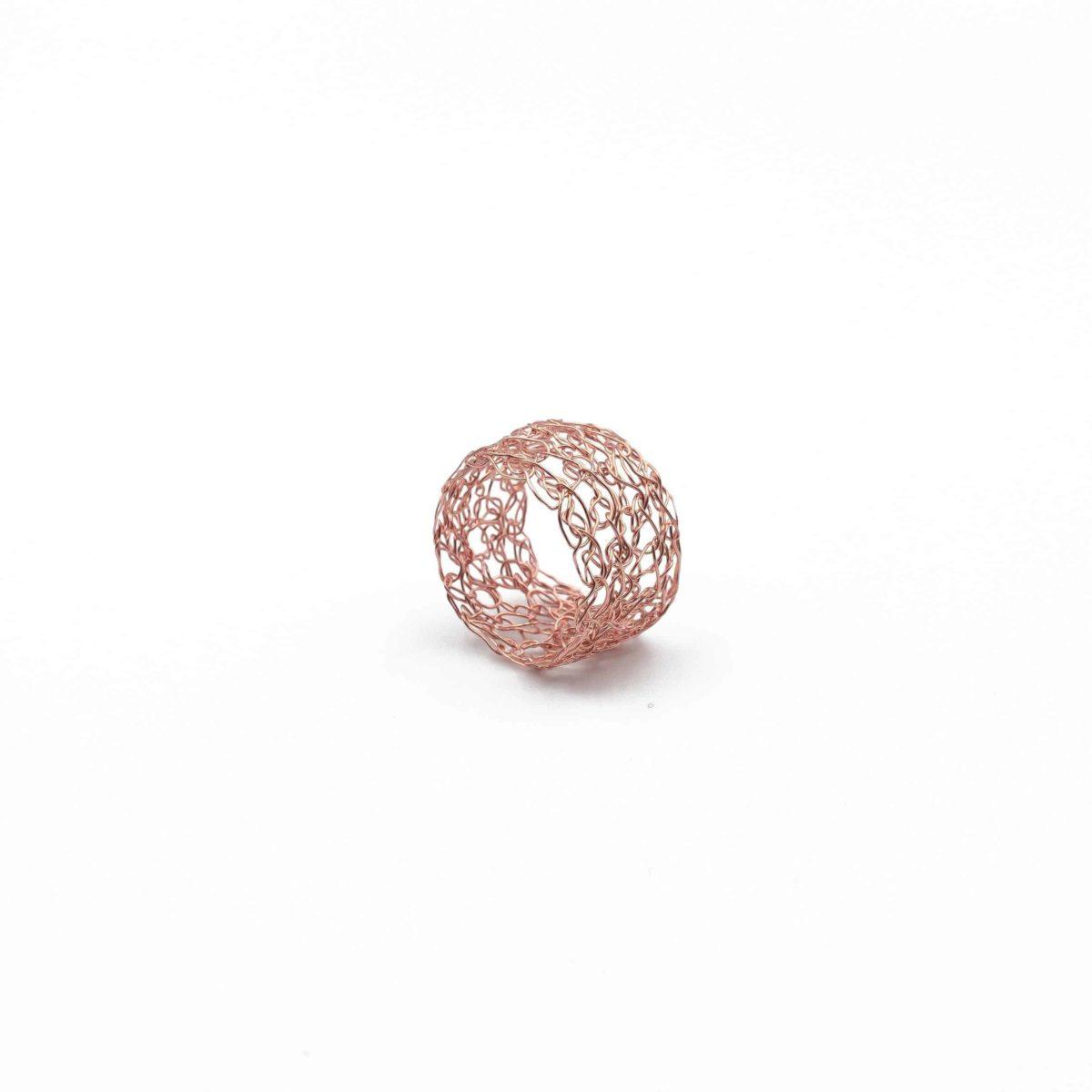 adjustable rose gold band ring
