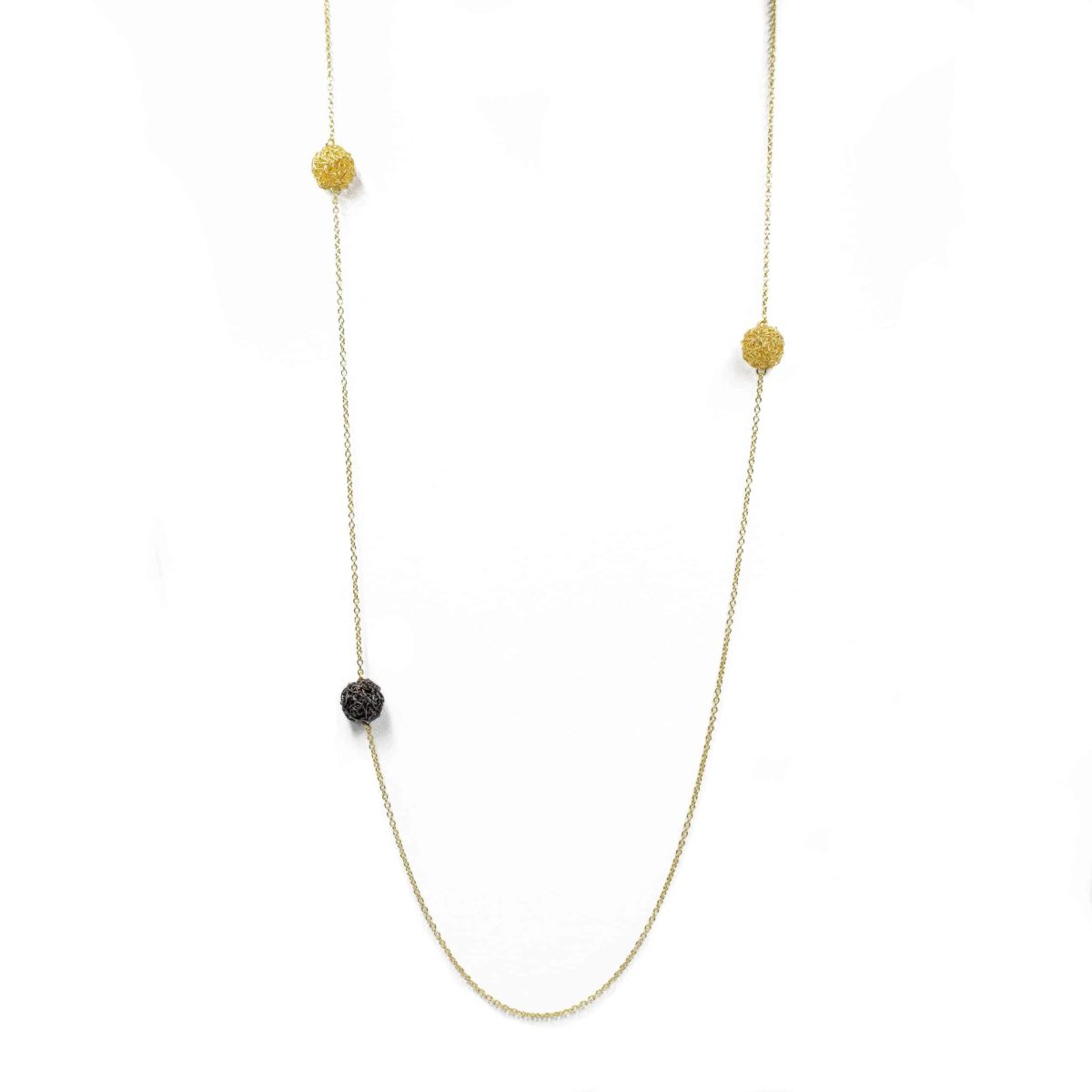 long pendant necklace in gold color